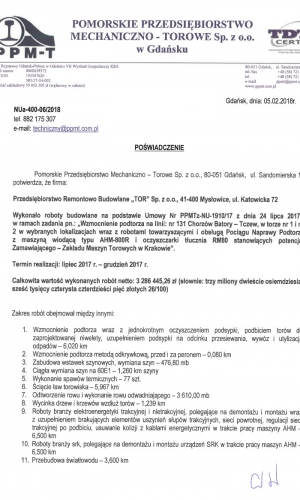Pomorskie Przedsiębiorstwo Mechaniczno-Torowe Sp. z o.o. w Gdańsku
