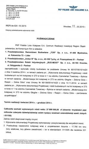 Referencje PKP 09.03.2015