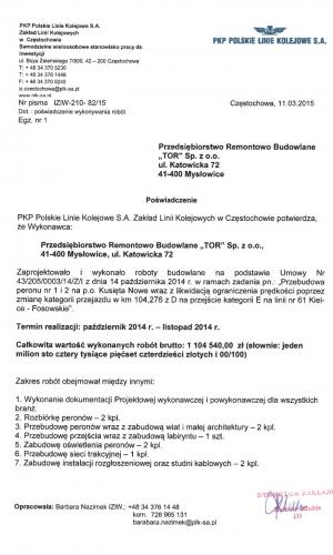 Referencje PKP 11.03.2015