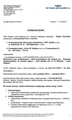 Referencje PKP 12.02.2016