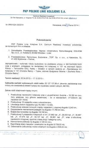 Referencje PKP 25.03.2014