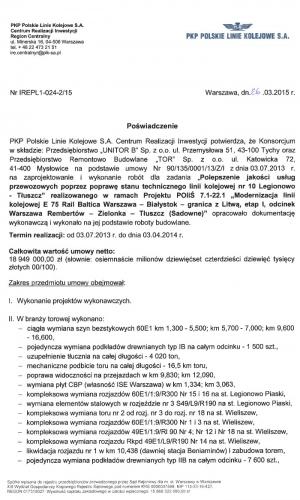 Referencje PKP 26.03.2015