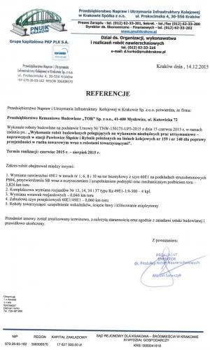 Referencje PNUIK Kraków 14.12.2015